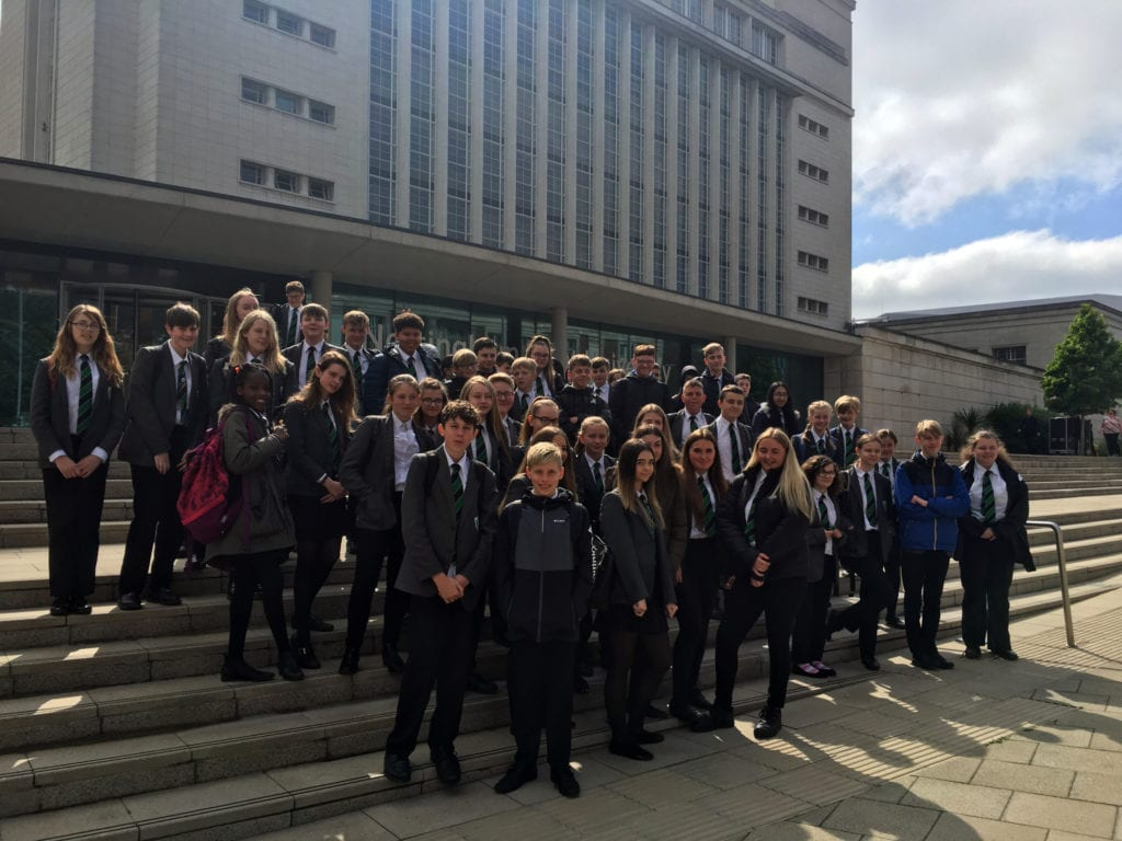 Year 8 and 9 students take a tour of Nottingham Trent University