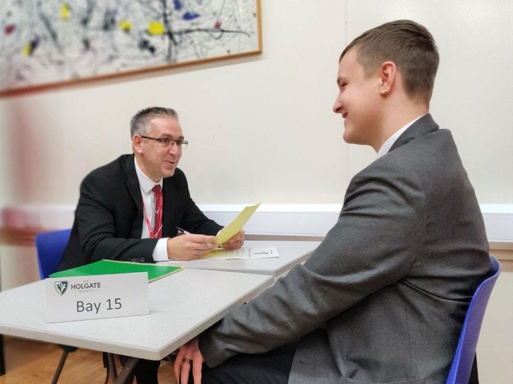 Developing key skills at year 11 mock interview day